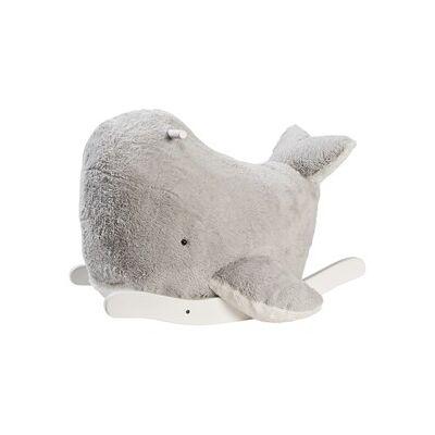 STOY Play Rocking Whale Grey One Size - Børnetøj - STOY