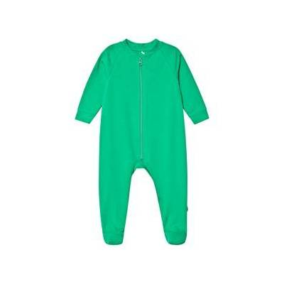 A Happy Brand Footed Baby Body Green 62/68 cm - Børnetøj - A Happy Brand