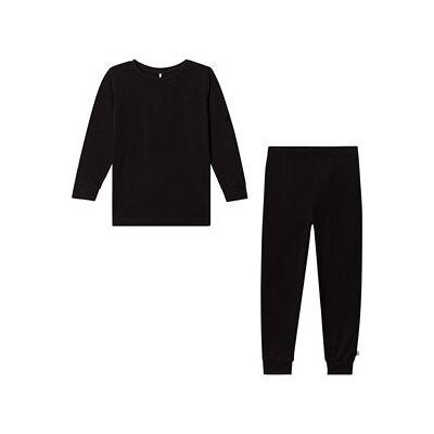 A Happy Brand PJ Set Black 110/116 cm - Børnetøj - A Happy Brand