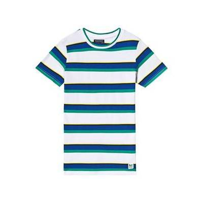 Mayoral Blue, Green and Yellow Multi Stripe Knit Tee 8 years - Børnetøj - Mayoral