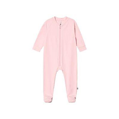 A Happy Brand Footed Baby Body Pink 50/56 cm - Børnetøj - A Happy Brand