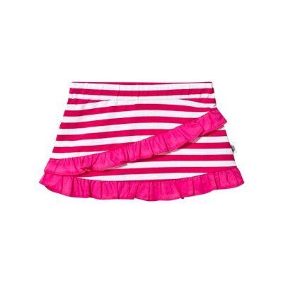 Hootkid Pink and White Stripe Frill Detail Skirt 14 years - Børnetøj - Hootkid
