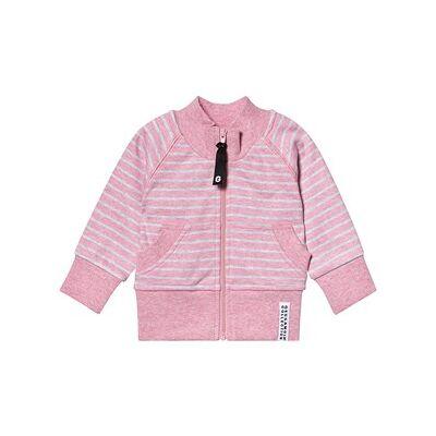 Geggamoja Classic Zip Jacket Pink Daisy Stripe 50/56 cm - Børnetøj - Geggamoja