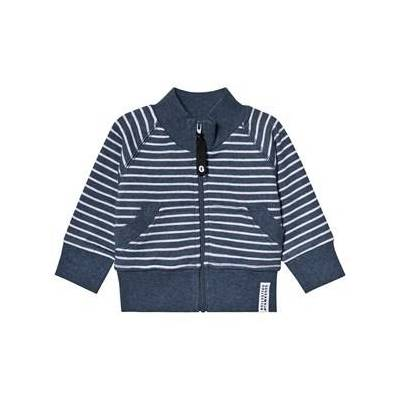 Geggamoja Classic Zip Jacket Marin Blue Stripe 122/128 cm - Børnetøj - Geggamoja