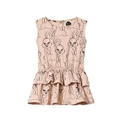 MAINIO Bunni Babies Frill Dress Nude Rose 62/68 cm - Børnetøj - MAINIO