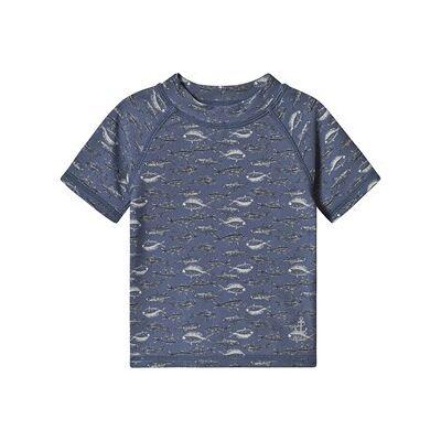 Wheat Jackie Swim Shirt Bering Sea 80 cm (9-12 mdr) - Børnetøj - Wheat