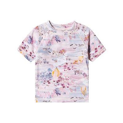 Wheat Jackie Swim Shirt Pale Rose 110 cm (4-5 år) - Børnetøj - Wheat