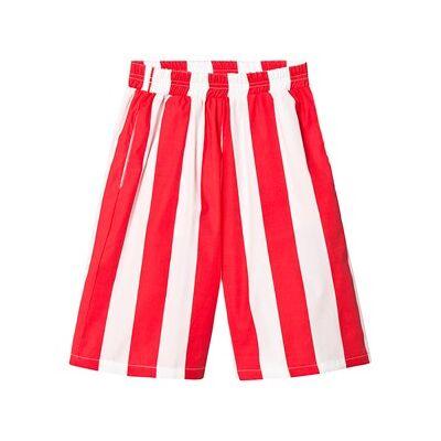 Beau Loves Deck Chair Stripe Culotte Pants Ecru/Tomato Red 6-7 år - Børnetøj - Beau Loves