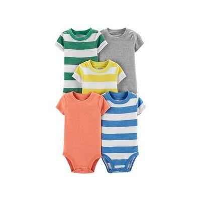 Carter's 5-Pack Stripe Baby Bodies Multicolor 9 mdr - Børnetøj - Carter's