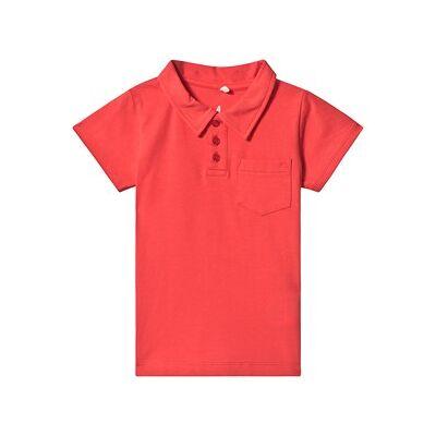 A Happy Brand Polo Skjorte Rød 86/92 cm - Børnetøj - A Happy Brand