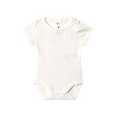 A Happy Brand Kortermet Baby Body Hvit 50/56 cm - Børnetøj - A Happy Brand
