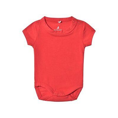 A Happy Brand Kortermet Baby Body Rød 74/80 cm - Børnetøj - A Happy Brand