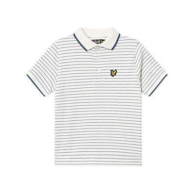 Lyle & Scott Snow White Textured Stripe Polo Shirt 14-15 years - Børnetøj - Lyle & Scott