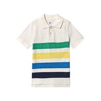GAP Sh Ss Stp Polo New Off White Stripe L (10-11 år) - Børnetøj - GAP