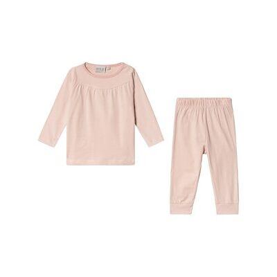Wheat Pajamas Yoke Ls Dark Rose 80 cm (9-12 mdr) - Børnetøj - Wheat