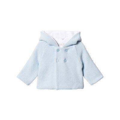 Dr Kid Blue Hooded Cardigan 1 month - Børnetøj - Dr Kid