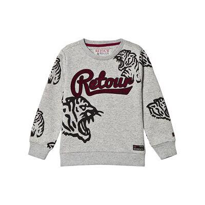 Retour Divo Sweater Ash Grey Melange 11-12 Years - Børnetøj - Retour