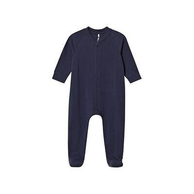 A Happy Brand Footed Baby Body Navy 50/56 cm - Børnetøj - A Happy Brand