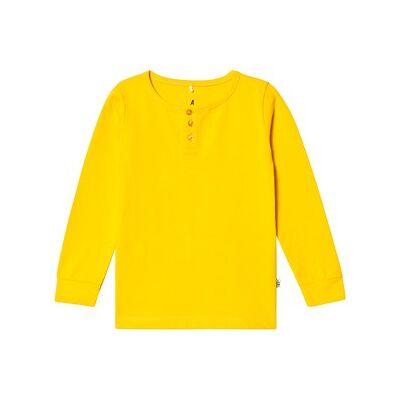 A Happy Brand Grandpa Tee Yellow 86/92 cm - Børnetøj - A Happy Brand