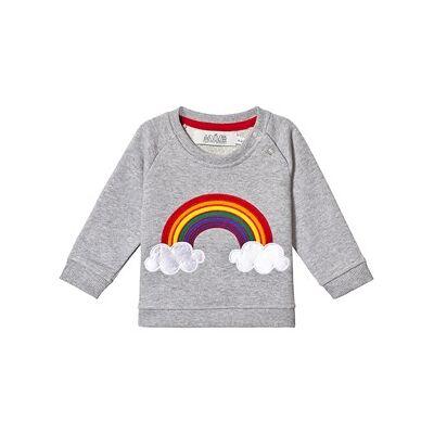 Anïve For The Minors Grey Rainbow Baby Sweatshirt 6-9 mdr - Børnetøj - Anïve For The Minors