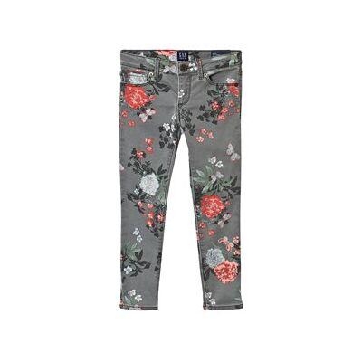GAP Super Skinny Fantastiflex Jeans Grey Floral 7 (7 Years) - Børnetøj - GAP
