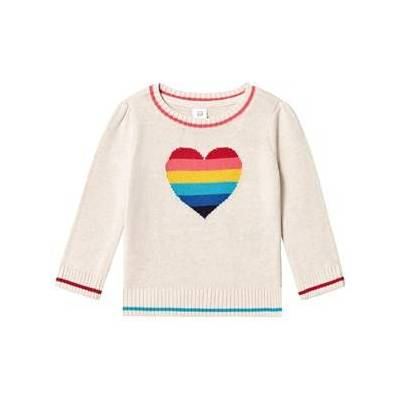 GAP Rainbow Heart Pullover Sweater 4 år - Børnetøj - GAP