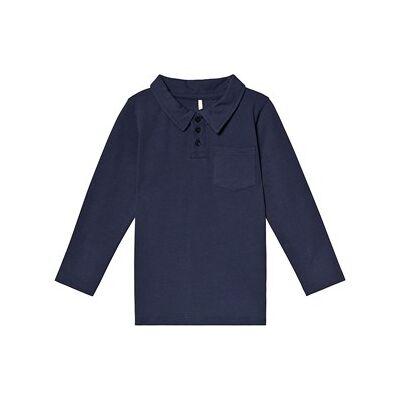A Happy Brand Polo Shirt Navy 86/92 cm - Børnetøj - A Happy Brand