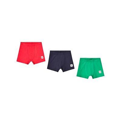 A Happy Brand 3-Pack Boxers Green/Navy/Red 134/140 cm - Børnetøj - A Happy Brand