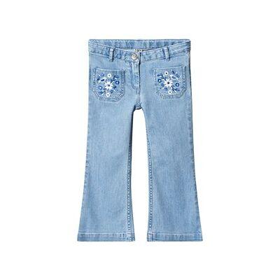 Bonton Flared Jeans Stone Blue 4 år - Børnetøj - Bonton