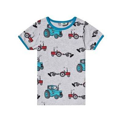 Småfolk T-shirt i grå med Traktorprint 68cm (6 months) - Børnetøj - Småfolk