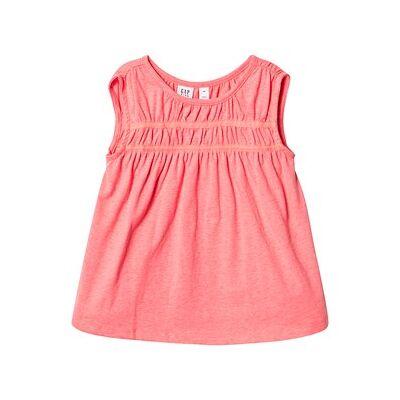 GAP Shirred Tunic Neon Blazing Pink XXL (14 år) - Børnetøj - GAP