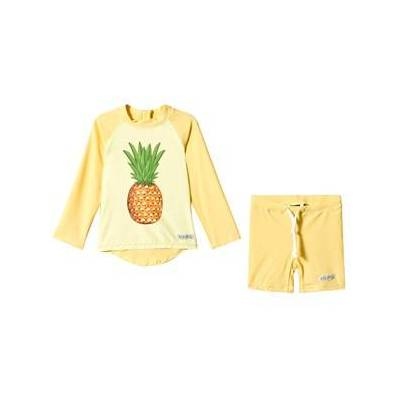 Kuling UV-Sæt Curacao Pineapple Pale Yellow 98/104 cm - Børnetøj - Kuling