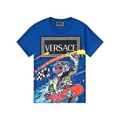 Versace Skateboarding Tiger Tee Blue 5 years - Børnetøj - Versace