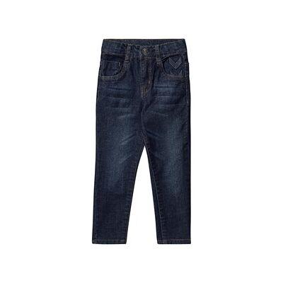 Hummel Five Pants Dark Denim 110 cm (4-5 år) - Børnetøj - Hummel