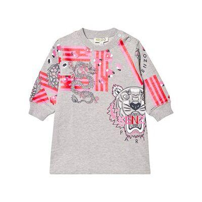 Kenzo Japanese Flower Sweater Dress Marl Grey 6 months - Børnetøj - Kenzo