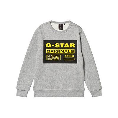 G-STAR RAW Logo Crew Sweatshirt Grey 14 years - Børnetøj - G-STAR RAW
