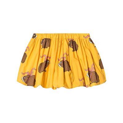Mini Rodini Posh Guinea Pig Baloon Skirt Yellow 92/98 cm - Børnetøj - Mini Rodini