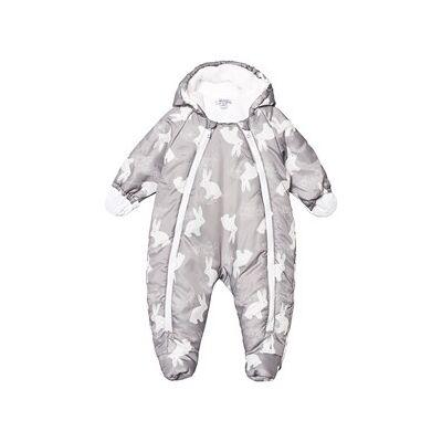 Absorba Bunny Print Coverall Grey/White 6 months - Børnetøj - Absorba