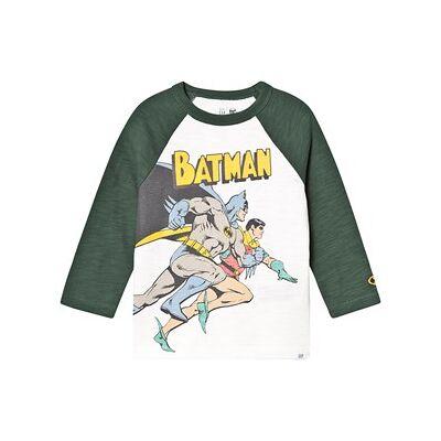 GAP Batman Raglan T-Shirt Off White 18-24 mdr - Børnetøj - GAP