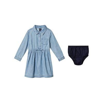 GAP Denim Shirt Dress Blue 5 år - Børnetøj - GAP