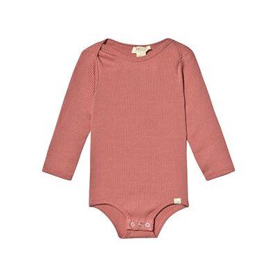 minimalisma Bono Baby Body Antique Red 6-12 mdr - Børnetøj - minimalisma