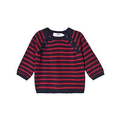 Cyrillus Donald Sweater Red/Navy 12 months - Børnetøj - Cyrillus