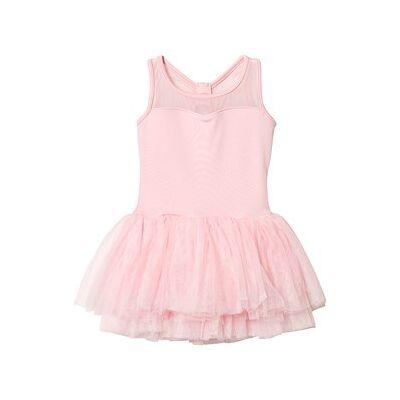 Mirella Tank Ballet Kjole Lys Pink med Diamante Sløjfe Bagpå 6-7 years - Børnetøj - Mirella