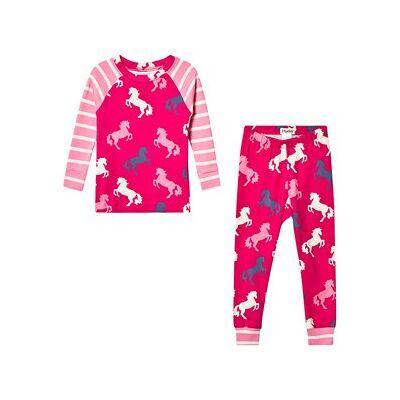 Hatley Økologisk Pyjamas Pink med Legende Heste 4 years - Børnetøj - Hatley