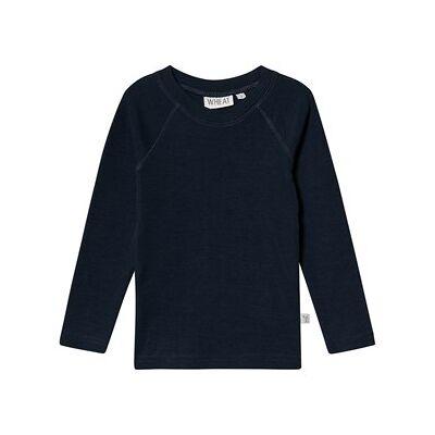 Wheat Wool Tee Navy 98 cm (2-3 år) - Børnetøj - Wheat