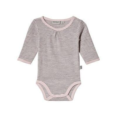 Wheat Wool Baby Body Peony Grey 62 cm (2-4 mdr) - Børnetøj - Wheat