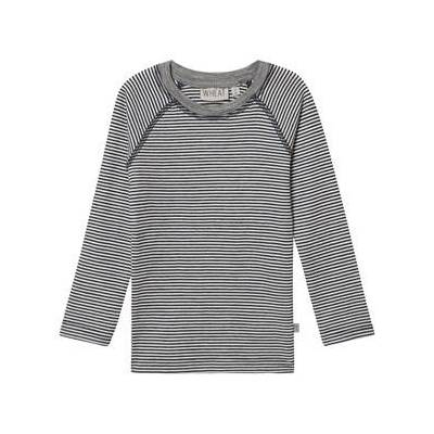 Wheat Wool Tee Navy Stripes 116 cm (5-6 år) - Børnetøj - Wheat