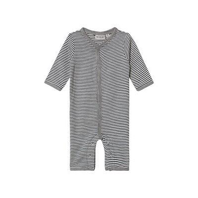 Wheat Plain Wool Jumpsuit Navy Stripes 86 cm (1-1,5 år) - Børnetøj - Wheat