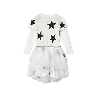 NUNUNU Fairytale Star Tyl Kjole Hvid 4-5 år - Børnetøj - NUNUNU