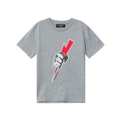 Neil Barrett Thunderbolt Print T-shirt Gråmeleret 6 Years - Børnetøj - Neil Barrett
